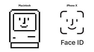 เผยที่มาโลโก้ Face ID มาจากไอคอน Happy Mac ในเครื่อง Macintosh ยุค 80