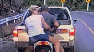 เปิดคลิปล่า คนขับ Nissan NV ถอยชนรถนักท่องเที่ยว โดยไม่ทราบเหตุ