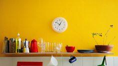 ไอเดียแต่ง ห้องครัวสีเหลือง สดใสโดดเด่นน่าใช้งานสุดๆ