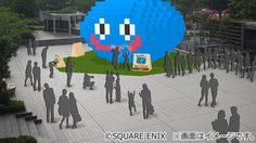 เมืองโยโกฮาม่า มีมอนสเตอร์ Slime ขนาดยักษ์บุก!! พร้อมเปิดขายตัวเกมใหม่ Dragon Quest Builders 2
