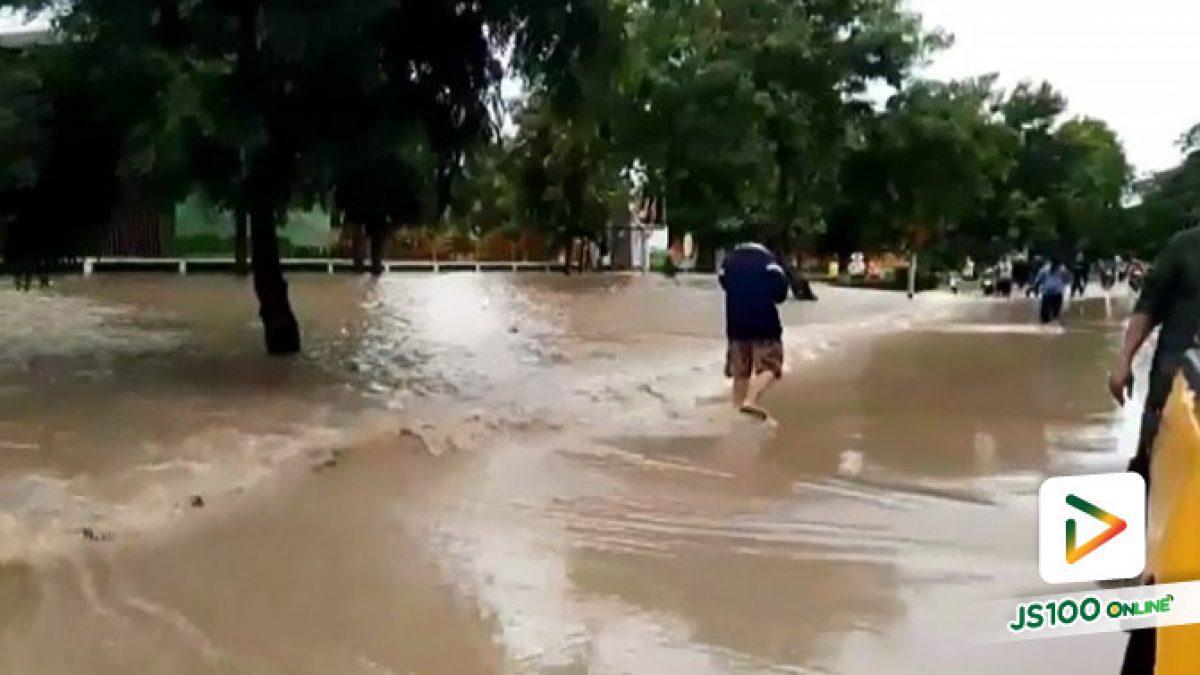 ฝนตกหนัก น้ำป่าไหลหลากท่วมถนนสายอ.พาน - ห้วยงิ้ว จ.เชียงราย (31/07/2019)