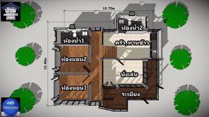บ้านแนวโมเดิร์น ยกใต้ถุนสูงพื้นที่ใช้สอย 88 ตร.ม.งบเก้าแสนกว่าๆ