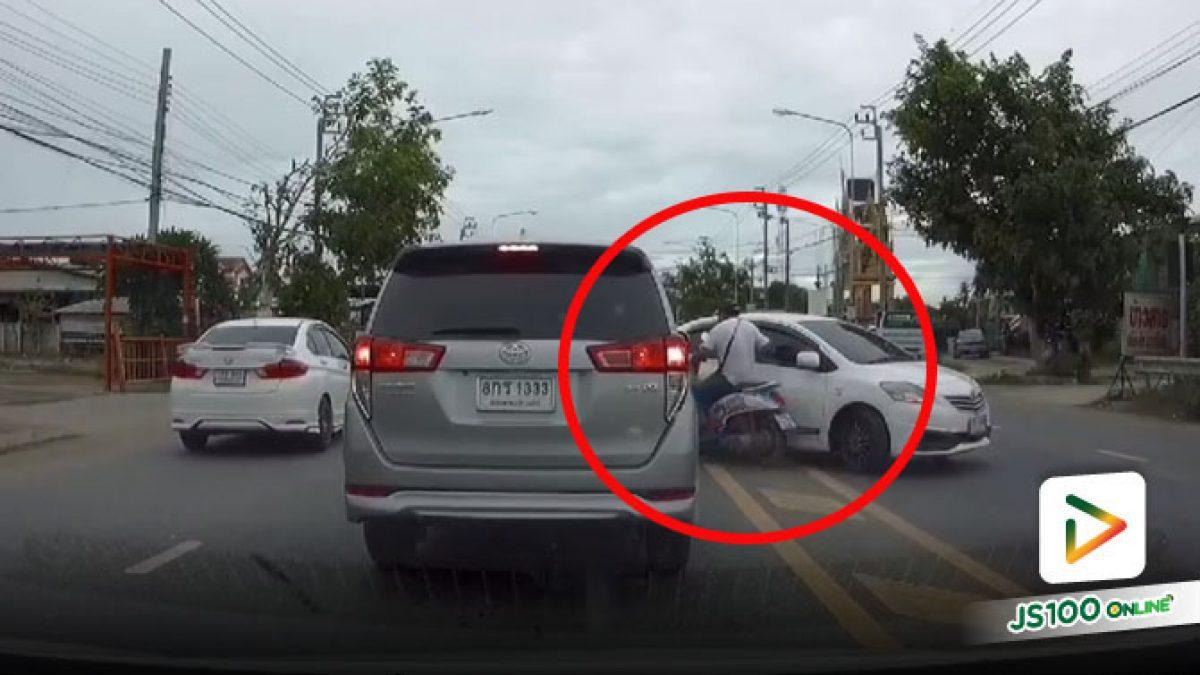 ขับขี่แบบไม่เคารพกฎจราจร พอชนขึ้นมาก็ผิดทั้งคู่แหละ