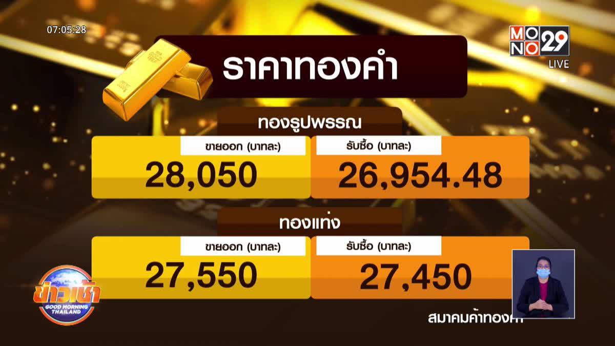 ราคาทองขยับขึ้นต่อเนื่อง แตะ 28,050 บาท
