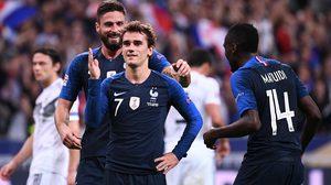 ผลบอล : ฝรั่งเศส vs เยอรมัน !! กรีซมันน์ เหมาสอง ตราไก่ พลิกเชือด อินทรีเหล็ก 2-1