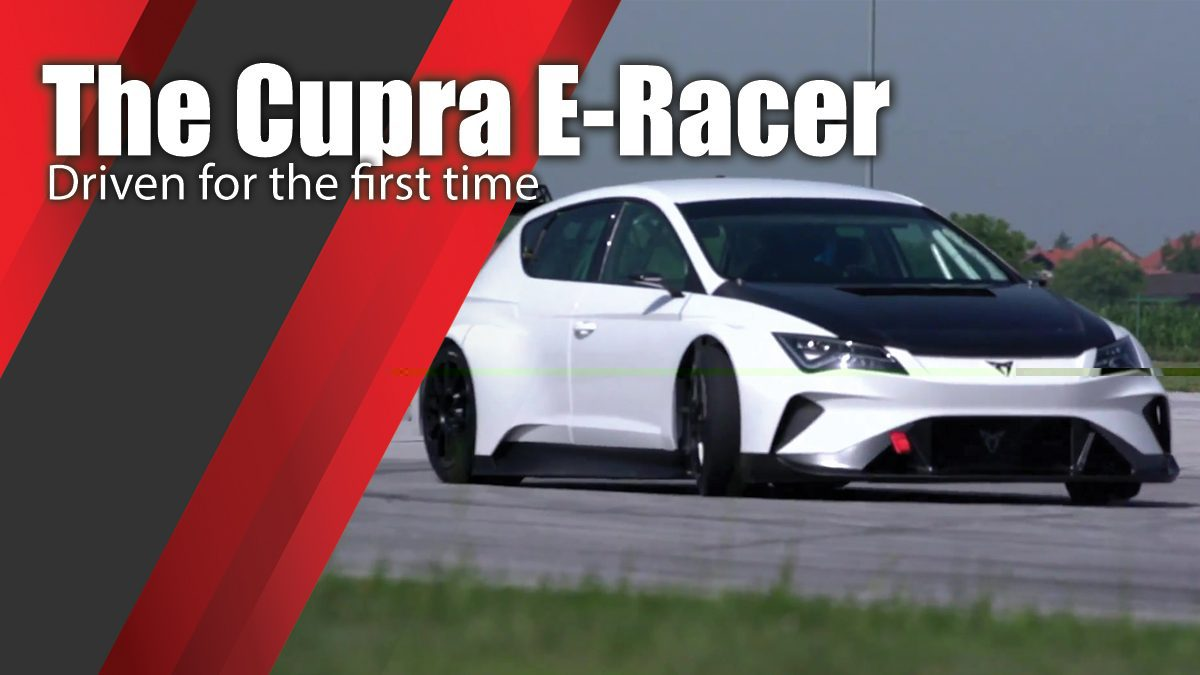 The Cupra E-Racer, driven for the first time