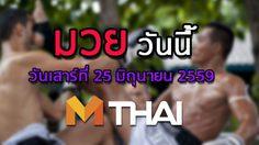 โปรแกรมมวยไทยวันนี้ วันเสาร์ที่ 25 มิถุนายน 2559