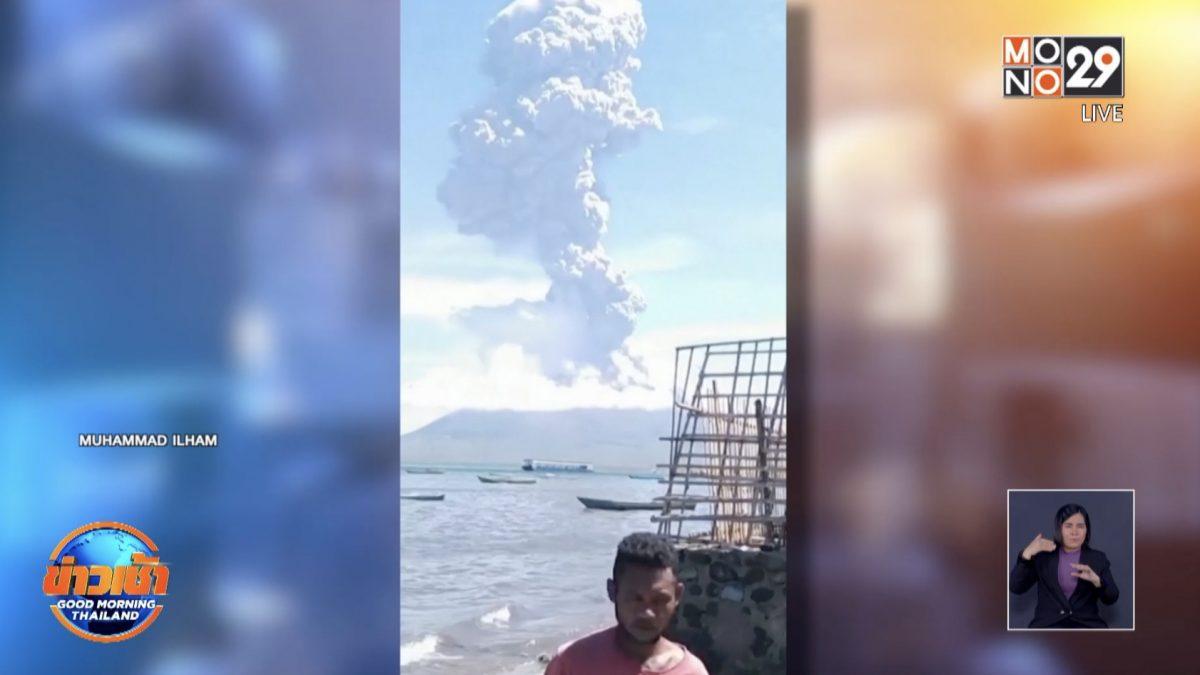 ภูเขาไฟในอินโดนีเซียปะทุ คนนับพันอพยพหนี