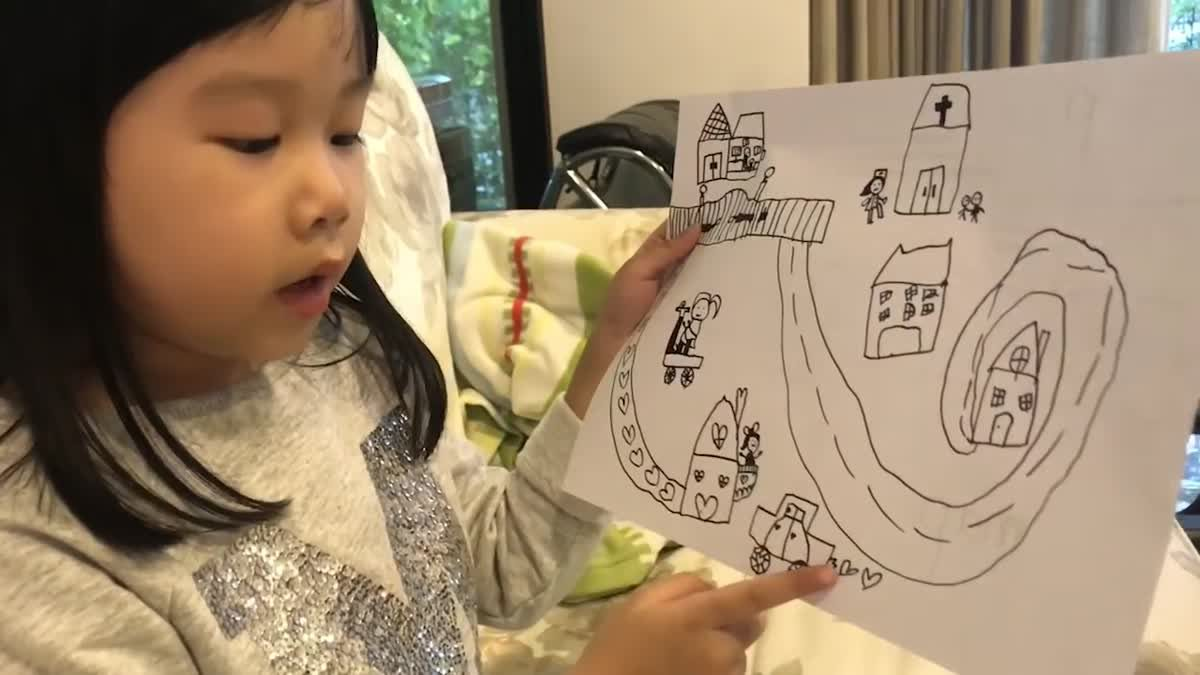 English with Rainnie EP.102 - Gin is telling story from her drawing