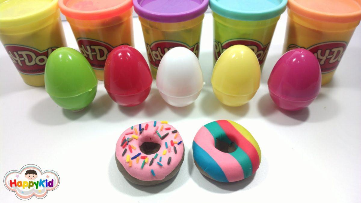 แป้งโดว์โดนัท | ปั้นแป้งโดว์ | เรียนรู้คำศัพท์กับแป้งโดว์ | Play-Doh Donut