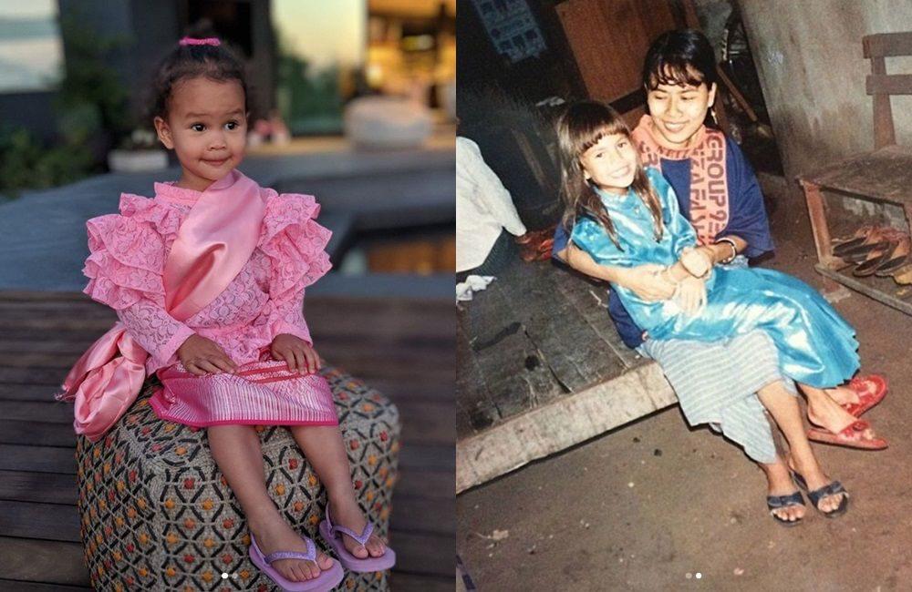 น้องลูน่าใส่ชุดไทย - คริสซีย์ สมัยเด็ก - คุณยายวิไลลักษณ์