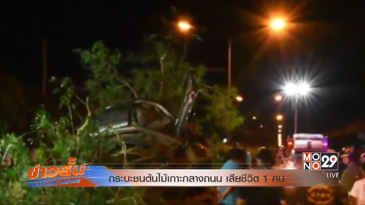 กระบะชนต้นไม้เกาะกลางถนน เสียชีวิต 1 คน