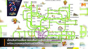 เช็คเส้นทางเลี่ยง แนะเส้นทางลัดทั่วไทย พร้อมวางแผนเดินทางช่วงปีใหม่