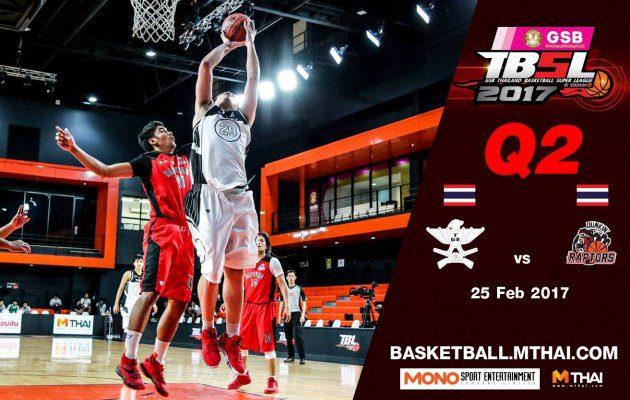 การแข่งขันบาสเกตบอล GSB TBSL2017 Leg2 คู่ที่5 TGE (ไทยเครื่องสนาม) VS Dunkin'Raptors Q2 25/02/60
