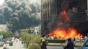 ระทึก! ไฟไหม้ร้านค้าตลาดศรีเมือง ราชบุรี เจ็บ 2 ราย ปิดการจราจร