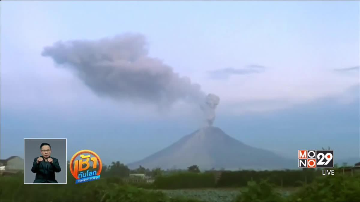 ภูเขาไฟ 2 ลูกในอินโดนีเซียปะทุ