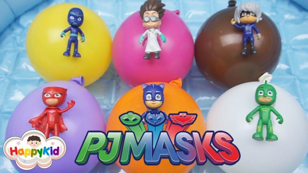 เพลง Finger Family #12 | เจาะลูกโป่ง PJ Masks | เรียนรู้สี | Learn Color With PJ Masks Balloons