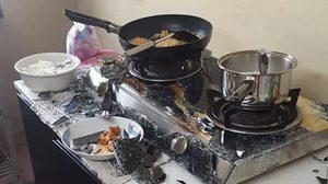 สาวโพสต์เตือนภัย! กระจกนิรภัยเตาแก๊สระเบิดขณะทำอาหาร