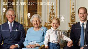 สวยงาม แสตมป์อังกฤษ ฉลองราชินีพระชนมายุครบ 90 พรรษา