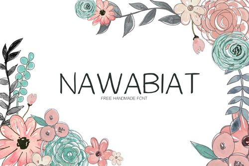 Nawabiat Free Handwriting Font