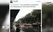 ฝนตกหนักถนนสุขุมวิทน้ำท่วมขัง
