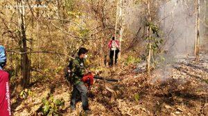 เกิดเหตุไฟป่าในจังหวัดลำปาง กินพื้นที่เสียหายกว่า 15 ไร่