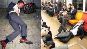 ทำงานหนัก,ดื่มหนัก สุดท้ายเมาหัวทิ่ม นี่เเหล่ะหนุ่มๆ ซาลารี่เเมนประเทศญี่ปุ่น