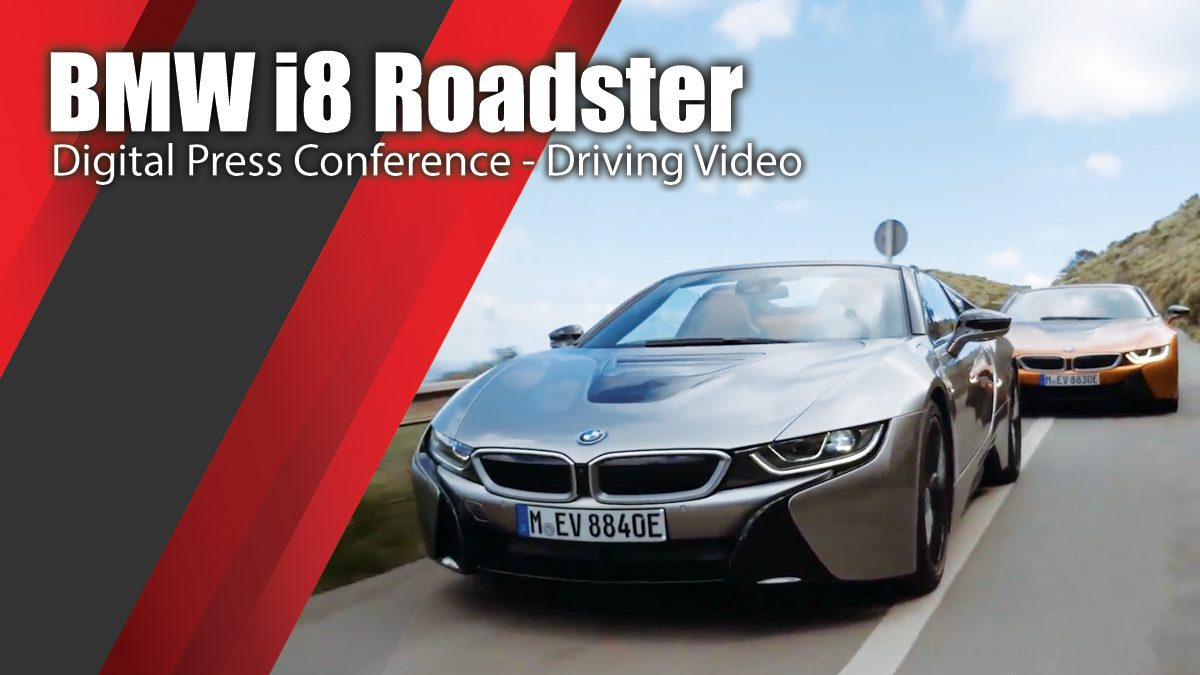 BMW i8 Roadster Digital Press Conference - Driving Video