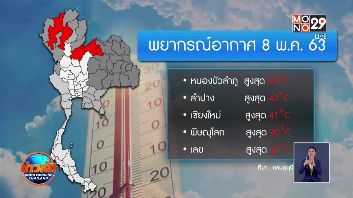 หลายจังหวัดร้อนสูงกว่า 40 องศาเซลเซียส