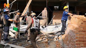 สลดใจ! ตึกกำลังก่อสร้างถล่มทับคนงานดับสยอง 2 ศพ