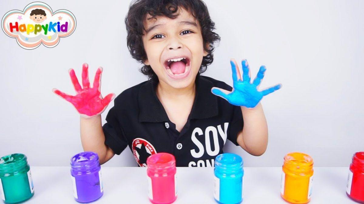 ระบายสีมือกับโจเซฟ | เพลงนิ้วโป้งอยู่ไหน | เรียนรู้สี | Learn Color With Hand Painting