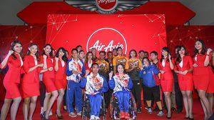 ฮีโร่พาราลิมปิกไทยเฮ แอร์เอเชีย มอบสิทธิ์บินฟรี นักกีฬาคว้าเหรียญรางวัล ริโอ 2016