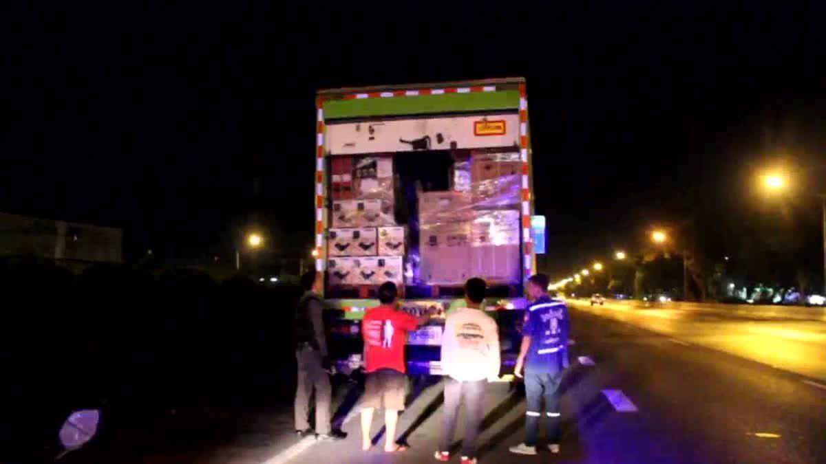 สุดงง! โชเฟอร์รถบรรทุกจอดนอนริมถนน ถูกคนร้ายขโมยกาแฟไม่แตะเครื่องใช้ไฟฟ้า