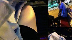 เด็กช่างใจหล่อ สละเสื้อให้หญิงสาว หลังพบนุ่งกระโปรงสั้นนั่งรถสองแถว