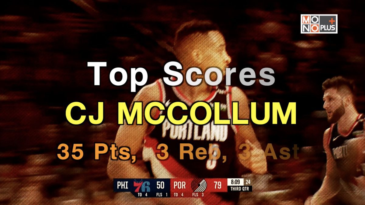 HIGH SCORE  CJ MCCOLLUM 35 PTS 3  REB 3 AST