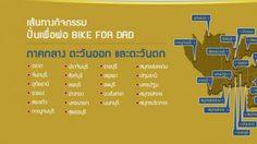 """เส้นทางปั่นเพื่อพ่อ """"Bike For Dad"""" ภาคกลาง ตะวันออก ตะวันตก"""