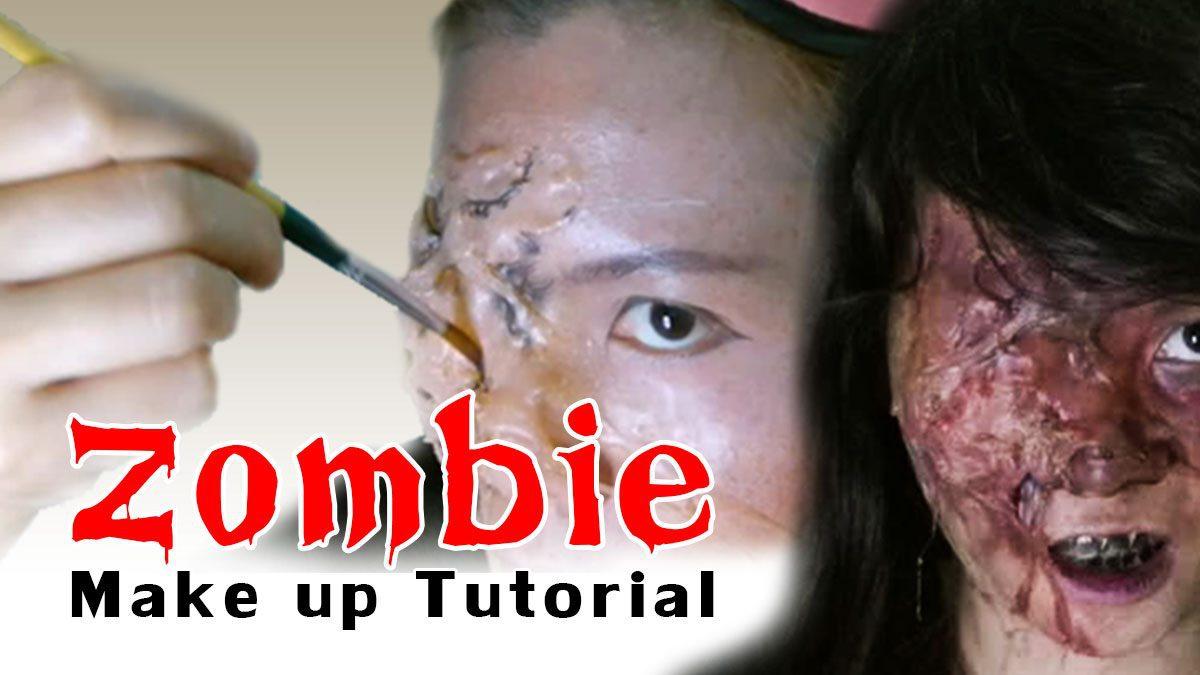 หลอนกว่านี้ ก็ล้างหน้าออกเถอะ Zombie Makeup Tutorial