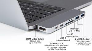 HyperDrive Compact Thunderbolt 3 USB-C Hub อุปกรณ์เสริมของ MacBook Pro ใหม่