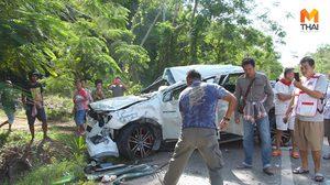 ตรังหวิดดับหมู่! ชุลมุนช่วงสงกรานต์ เหตุรถชน บาดเจ็บกว่า 16 ราย