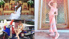 น่ารักจริงๆ!! ดีเจโซดา ใส่ชุดไทยเข้าวัด สวยจนจำแทบไม่ได้