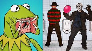 หลอนปนฮา! การ์ตูนสุดกวนจินตนาการบรรเจิด ฝีมือศิลปินดัง Ed Harrington