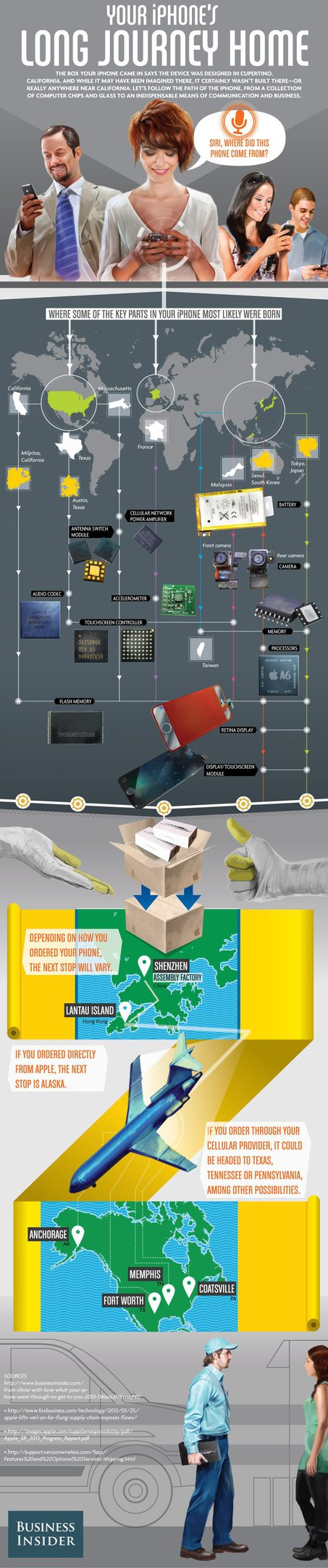 Your iPhone 's Long Journey Home [Infographic]