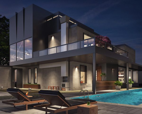 บ้านแนวโมเดิร์นกับสระว่ายน้ำ