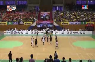 การแข่งขัน TBL2014 ชลบุรี ไฮเทค VS แวมไพร์ บาสเกตบอลคลับ Q1