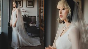 เรียบโก้ ชุดแต่งงาน แก้ว จริญญา ที่สื่อถึงตัวตนของเจ้าสาวได้เป็นอย่างดี