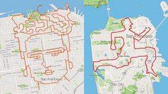 นักวิ่งหนุ่ม เปลี่ยนเมืองให้กลายเป็นผลงานศิลปะ จากการวิ่ง