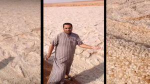 """เกิดมาพึ่งเคยเห็น! """"แม่น้ำทราย"""" กลางทะเลทรายอันร้อนระอุ"""