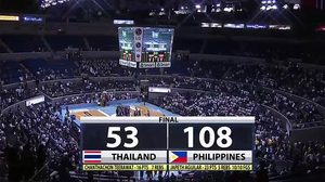 แกร่งเกินไป! ทีมบาสไทย พยายามเต็มที่ แม้พ่าย ฟิลิปปินส์ 53-108 ศึก ซีบา 2017