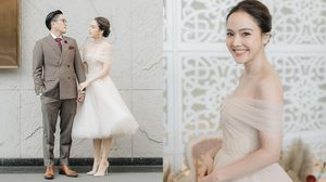 จอย ชลธิชา ตัวอย่าง เจ้าสาวตัวเล็ก ใส่ชุดแต่งงานสั้น แต่สวยแกรนด์น่าจดจำ