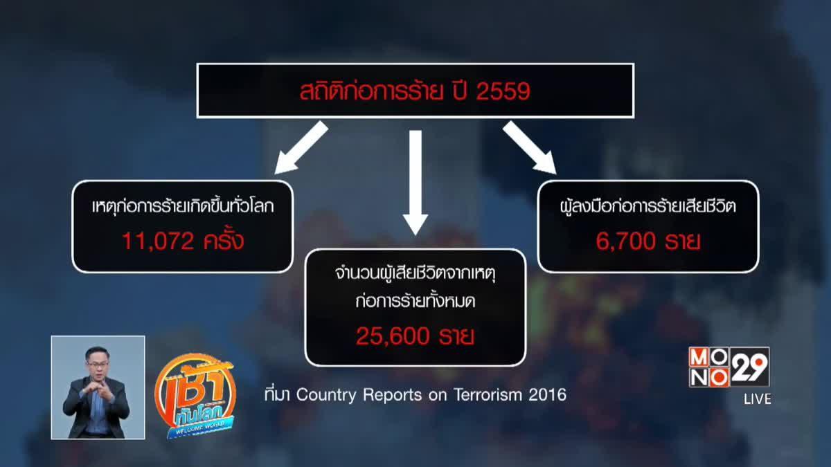สหรัฐฯ เผยรายงานเหตุก่อการร้าย ปี 2559